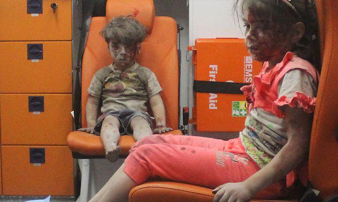 Omran und seine Schwester konnten gerettet werden