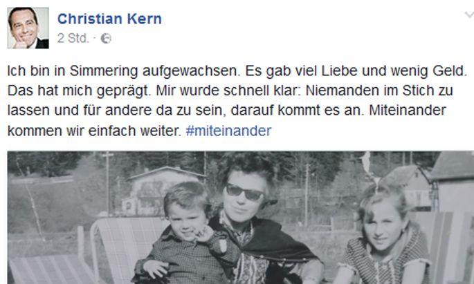 Kanzler Kern postet sein Wahlkampfvideo auf Facebook