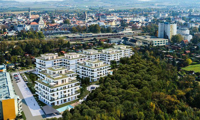 Projekt in Korneuburg von Wiener Komfortwohnungen: Von den 200 Wohnungen soll rund die Hälfte als Serviced Apartments realisiert werden.