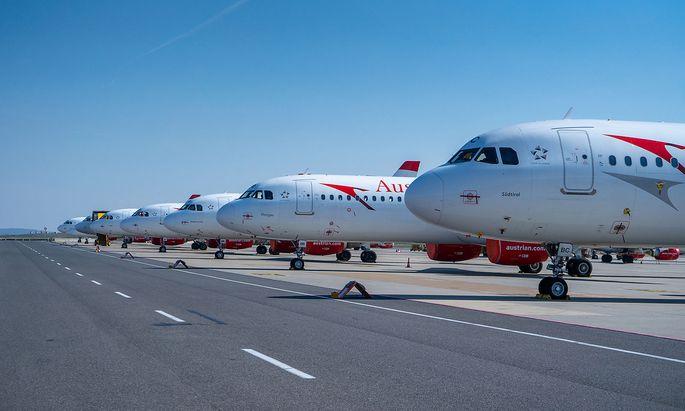 Die Flieger der AUA bleiben bis Mai auf dem Boden und werden danach wohl nur teilweise benötigt werden.