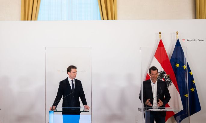 Bundeskanzler Sebastian Kurz (ÖVP) und Gesundheitsminister Wolfgang Mückstein (Grüne)