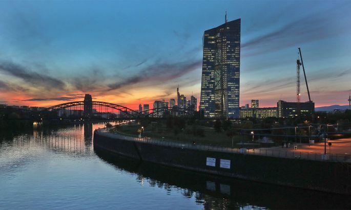 Die Zentrale der Europäischen Zentralbank.