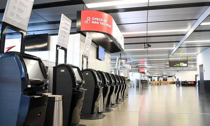 Wenig zu tun gibt es derzeit auch am Wiener Flughafen - was, wenn das so bleibt?
