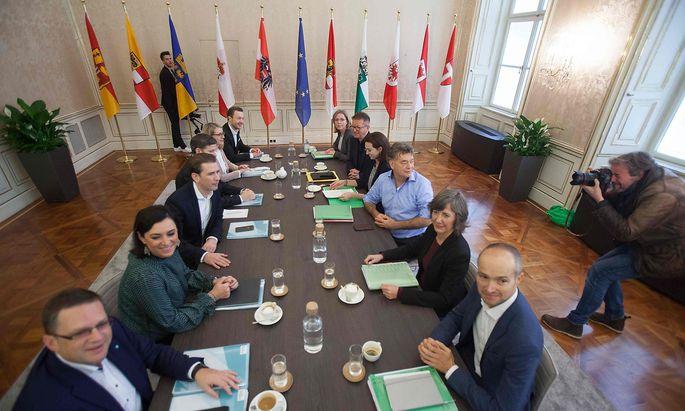Türkis-grüne Sondierungsgespräche