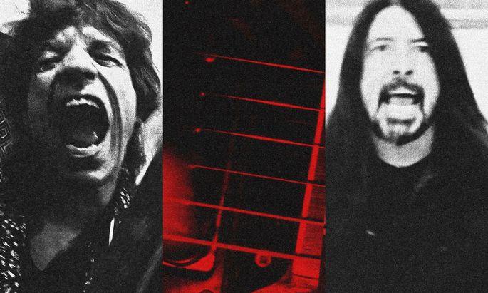 Jetzt schon Post-Lockdown-Rock: Mick Jagger und Dave Grohl.