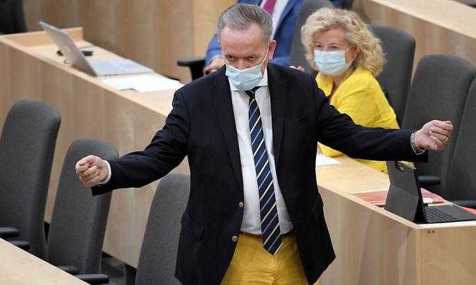 Rudolf Kaske (SPÖ) im Rahmen einer Sitzung des Bundesrates im Parlamentsausweichquartier in der Wiener Hofburg am Montag.
