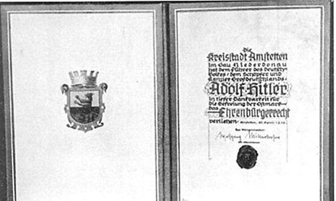 Hitler-Ehrenbürgerschaft: FPÖ wehrt sich gegen Kritik