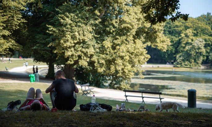 Ein Bild aus besseren Tagen, Brüssels grüne Oase: Bois de la Cambre