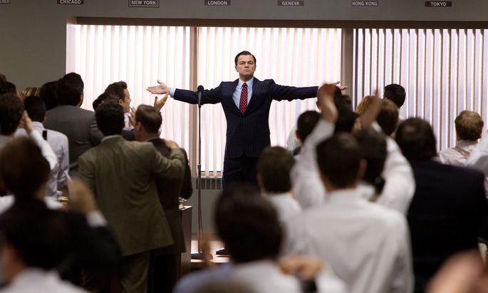 """Leonardo DiCaprio wird in """"The Wolf of Wall Street"""" zum Symbol kokainsüchtiger Investmentbanker. Die neue Selbst- optimierergenera- tion pusht sich mit anderen Drogen."""
