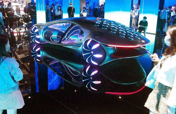 Das Mercedes-Benz-Konzeptfahrzeug Vision AVTR, gezeigt auf der Autoshow in Shanghai im April.