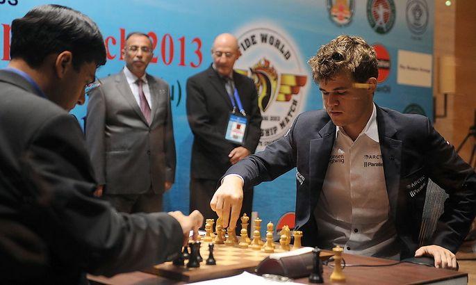 Magnus Carlsen gegen Viswanathan Anand