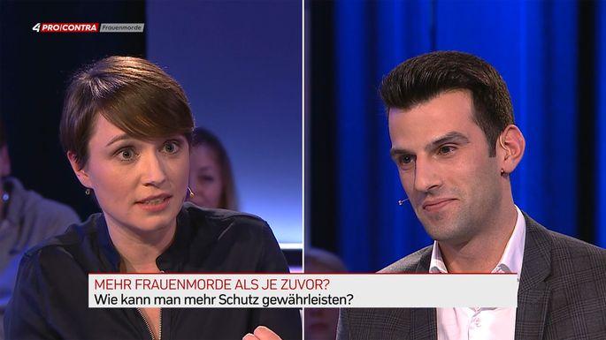 Zweikampf: Sigi Maurer und Udo Landbauer.