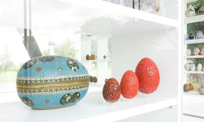 Die Eiersammlung der Bertonis im eigenen Museum, gebaut von den Architekten von Gaupenraub.