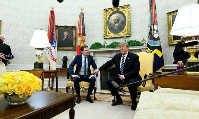 Archivbild: Erster Besuch von Kurz bei Trump im Weißen Haus.