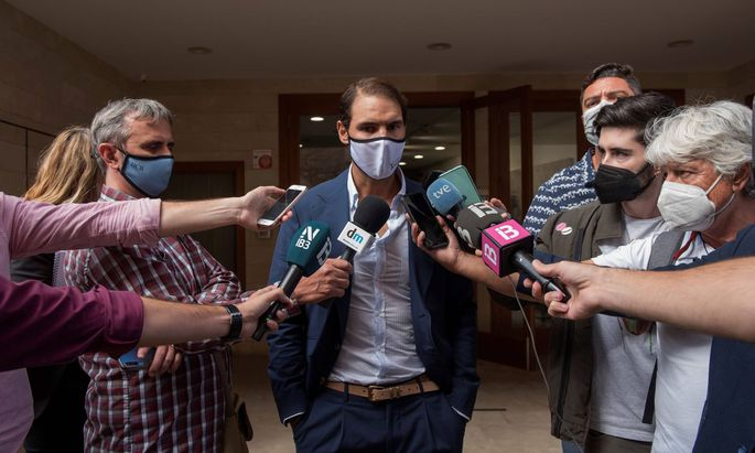 Spanish tennis player Rafa Nadal is appointed as adoptive son of Sant Llorenc des Cardassar town during an act held in