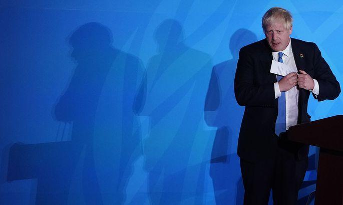 Boris Johnson verfolgte in New York die Geschehnisse im Supreme Court in London.