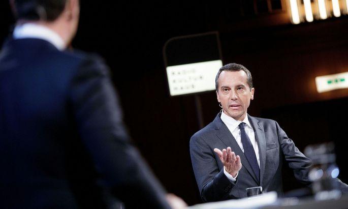 FPÖ-Chef Heinz-Christian Strache und SPÖ-Chef Christian Kern im ''Klartext''