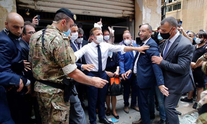 Emanuel Macron diese Woche in Beirut