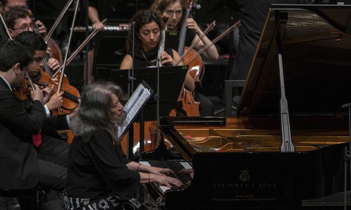 Martha Argerich in Salzburg.