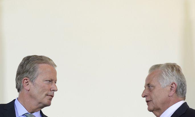 Reinhold Mitterlehner und Rudolf Hundstorfer verstanden sich gut. Bis es um die Besetzung des Vorstands für die E-Control ging.