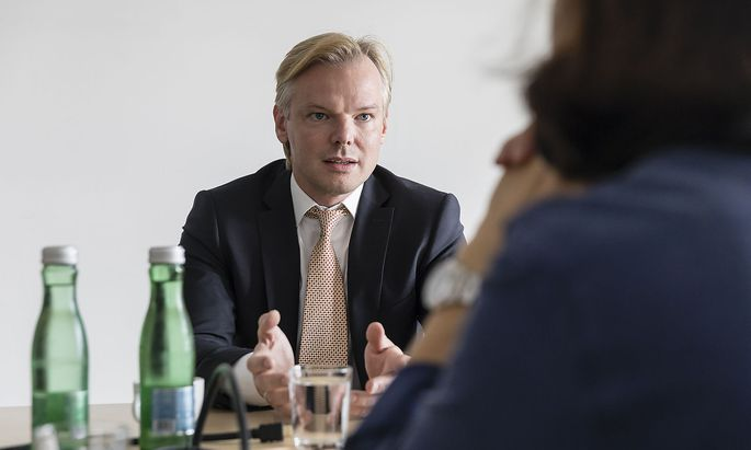 """Peter Sidlo bei einem """"Presse""""-Interview im vergangenen Sommer"""
