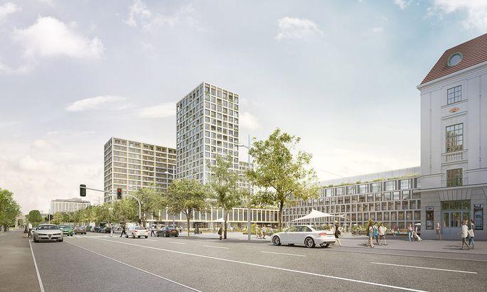 Entwurf für das umstrittene Projekt am Heumarkt