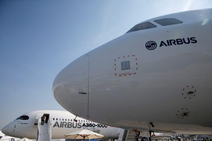 Im Bild: Ein Airbus A350-1000 Xwb und ein Airbus A321neo.