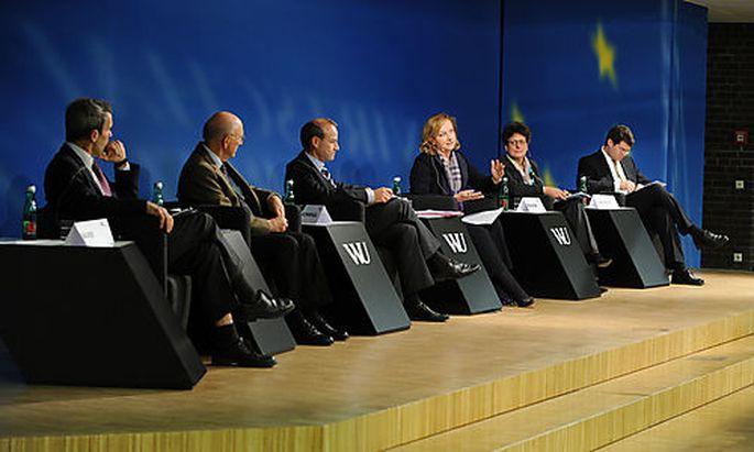Rechtspanorama an der WU, Bauer, Koziol, Kommenda, Fekter, Prehofer, StaringerFoto: Clemens Fabry