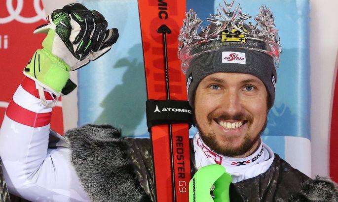 Weltcup-Sieger Marcel Hirscher fährt Atomic
