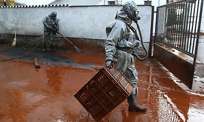 Rescue workers clear up toxic sludge in the flooded village of Devecser