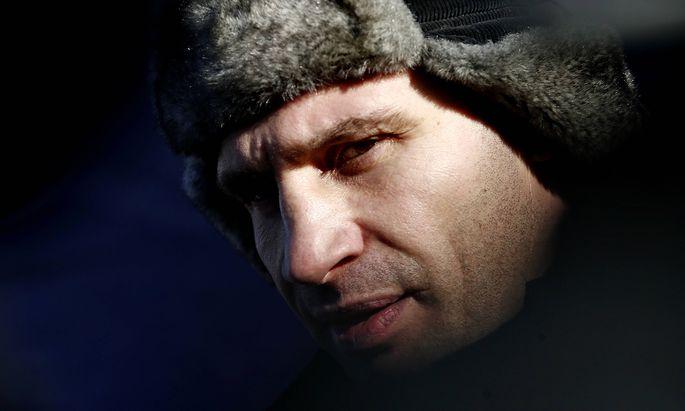 ITAR-TASS: KIEV, UKRAINE. FEBRUARY 2, 2014. Udar Party leader Vitali Klitschko attends a rally in Kyiv s Independence S