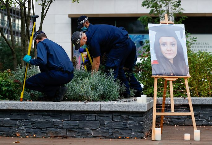Vigil in memory of Sabina Nessa in London