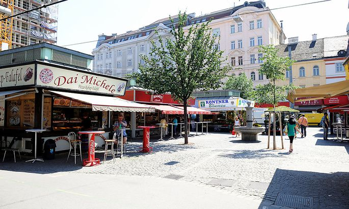 Der seit vielen Jahrzehnten bestehende Rochusmarkt ist das unumstrittene Zentrum des dritten Bezirks.