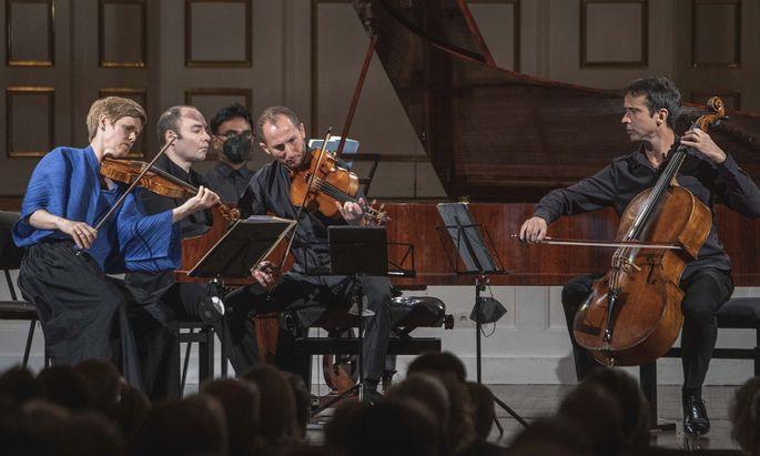 Subtile Kammermusik: Isabelle Faust, Anne Katharina Schreiber, Antoine Tamestit, Alexander Melnikov, Jean-Guihen Queyras.