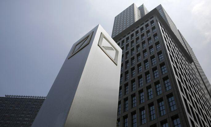 File photo of logos of Deutsche Bank AG in Tokyo