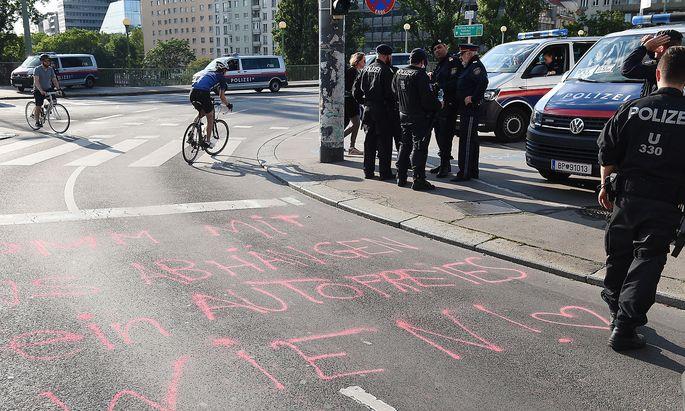 Archivbild: Aktivisten blockierten am 31. Mai den Ring.