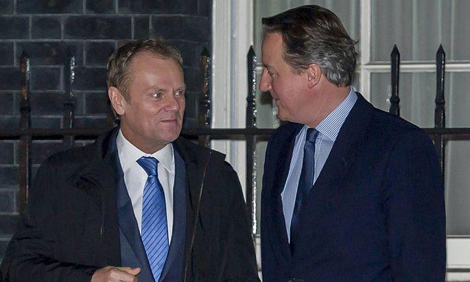 31 01 2016 London United Kingdom Prime Minister David Cameron meets European Council President