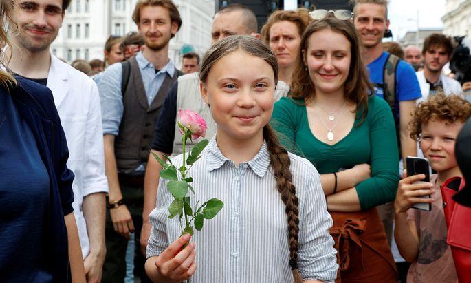 Ein Jahr lang will die Klimaaktivistin Greta Thunberg an Klimagipfeln teilnehmen
