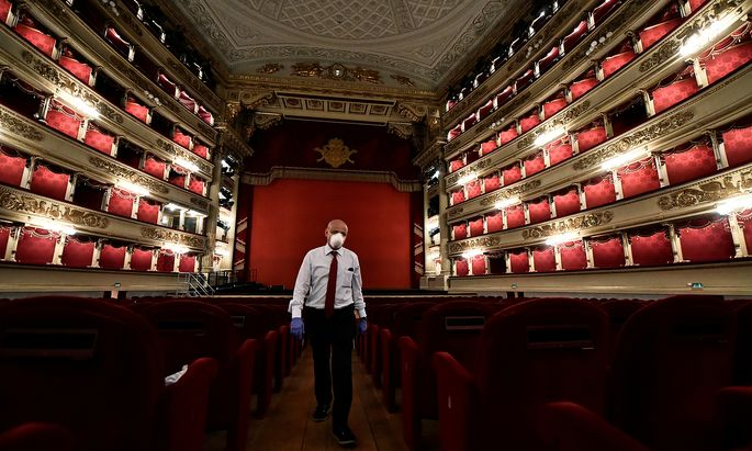 Italy´s La Scala opera house reopens to the public for the first time since the coronavirus disease (COVID-19) outbreak, in Milan