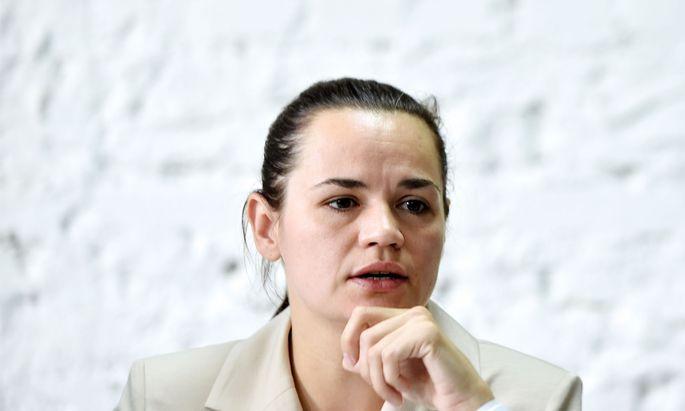 Swetlana Tichanowskaja wendet sich in ihrer Videobotschaft direkt an die Staats- und Regierungschefs der EU-Staaten.