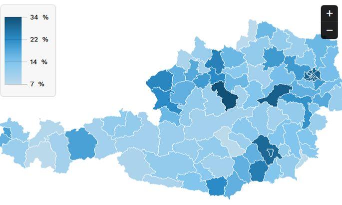 Wo beginnt das digitale Brachland? In Österreich mitunter schon eine halbe Autostunde außerhalb der großen Städte.
