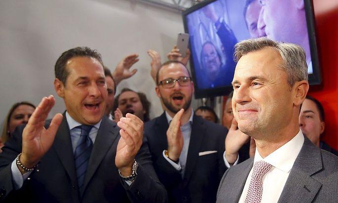 Norbert Hofer bei der FPÖ-Wahlfeier am Sonntag