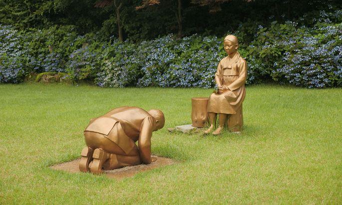 Bronzemädchen: Gedenken an Opfer japanischer Verbrechen.