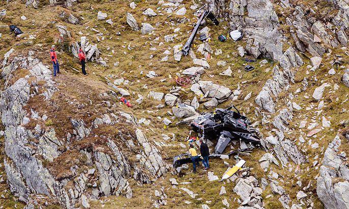 Das Wrack von Archs Helikopter (im Bil ddie Absturzstelle, aufgenommen am verganganen Freitag) wurde am Montag nach Wien überstellt.