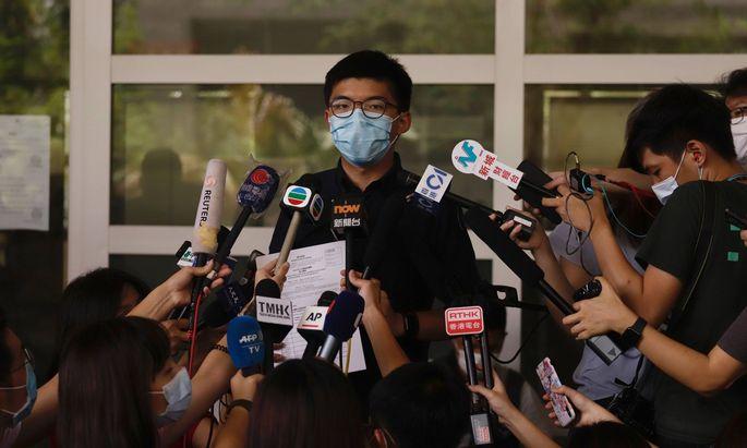 Zu den ausgeschlossenen Kandidaten gehört auch der international bekannte Joshua Wong.