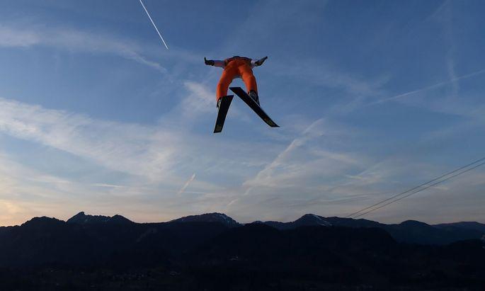 Schanze frei: Diese Perspektive ist nur für Skispringer befreiend.