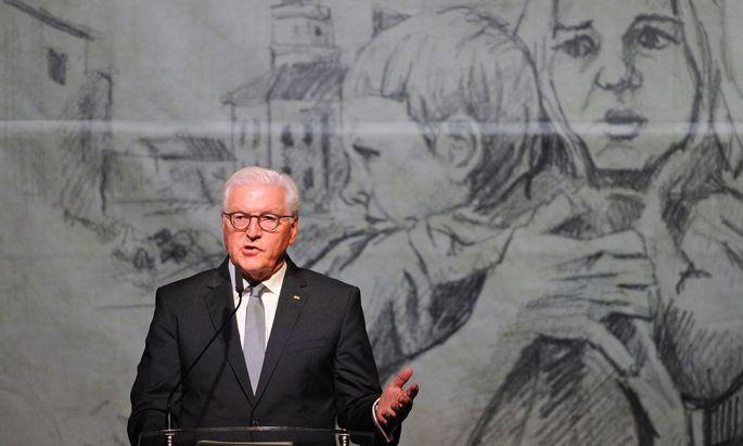 Der deutsche Bundespräsident Frank-Walter Steinmeier zu Besuch in der polnischen Kleinstadt Wielun.