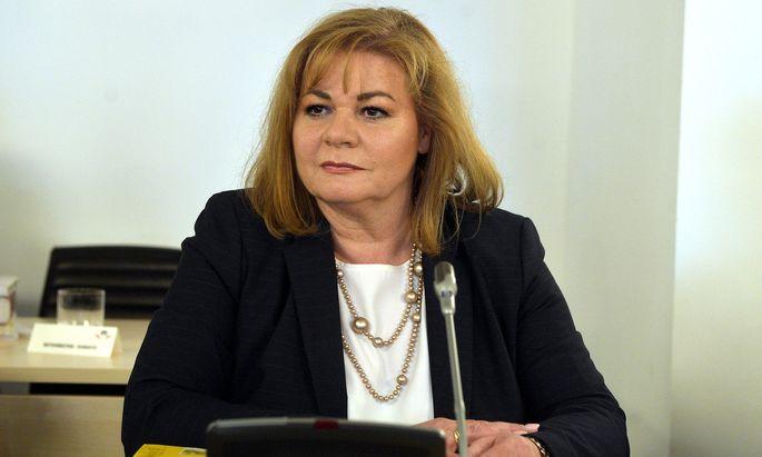 Die Leiterin der WKStA, Ilse Vrabl-Sanda, im U-Ausschuss