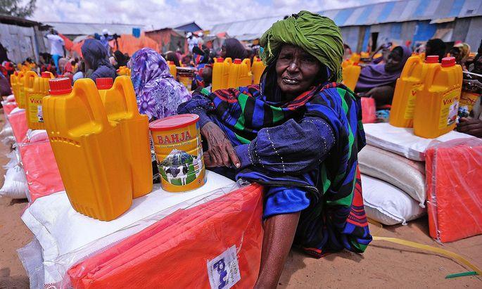 Humanitäre Hilfe für Opfer der Dürre in Somalia.