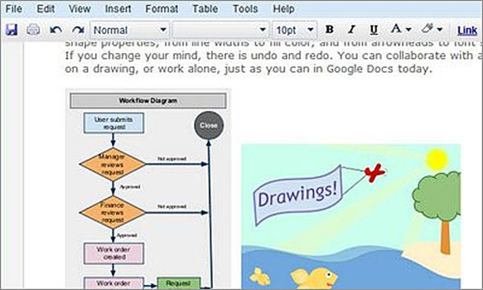 Google Drawings für Docs